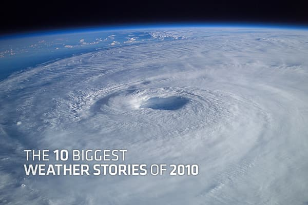 This past year has been a wild one for weather, both in the US and around the world. To review 2010's uncommon string of weather occurrences, a sister network of CNBC, put together a list of the top 10 weather stories of the year, which will be the subject of a special show on The Weather Channel, on Saturday January 1st.The weather of 2010 had significant economic consequences, dominated the headlines around the country and affected millions. Click ahead to see the biggest weather stories of 20
