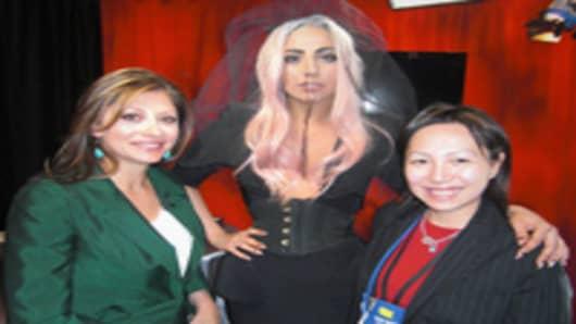 Maria Bartiromo, Lady Gaga and Lulu Chiang