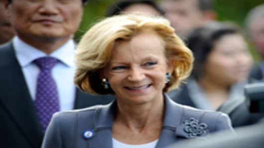 Elena Salgado, Spain's Economy and Finance Minister