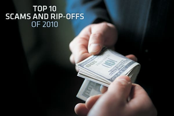 "A few new scams and rip-offs were added to the  annual list of the top 10 scams and rip-offs in 2010, primarily due to high unemployment and tough economic times, according to Stephen A. Cox, President and CEO of the Council of Better Business Bureaus. ""With the economy still on the mend, scammers had a field day targeting struggling families who were looking for work and trying to make ends meet,"" he said.The annual report, based on inquiries and complaints filed at Better Business Bureau locat"