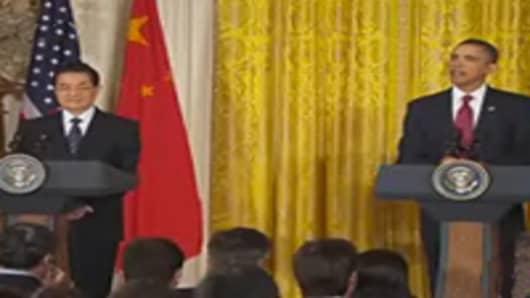 President Obama & President Hu Joint Press Conference