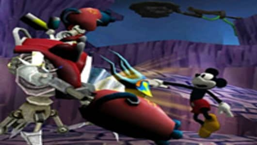 "Screenshot of Disney's ""Epic Mickey"""