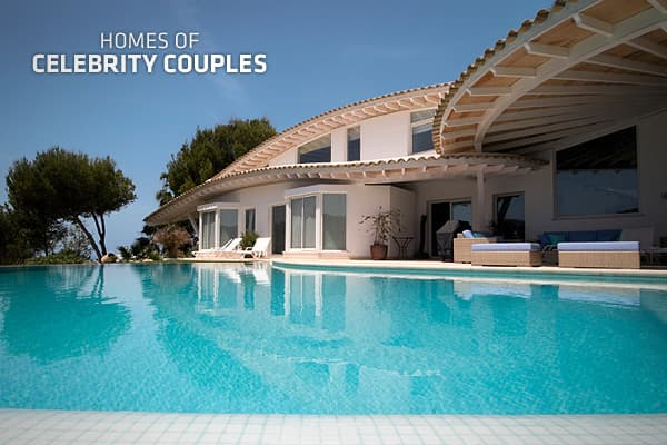 Homes of celebrity couples for Beautiful rich houses