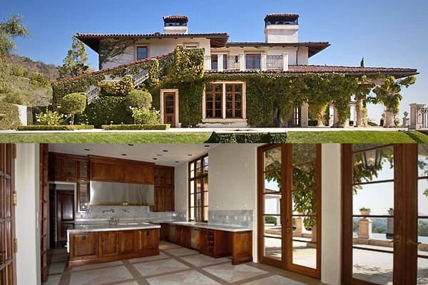 """Location: Los Angeles, CaliforniaSelling Price: $14,200,000 Heidi Klum and Seal obtained this foreclosure in the Brentwood Country Estates community following a bidding war last year, reportedly paying significantly more than the $13,400,000 asking price. The 12,300 square foot home has 9 bedrooms and 7 baths and is situated on 8.52 acres—plenty of room for the model/""""Project Runway"""" hostess, the singer, and their four children, who also have a playhouse, because their parents are Heidi Klum and"""