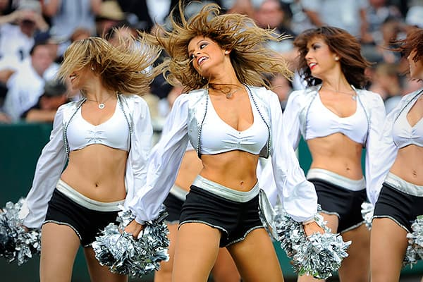 After the Cowboys, the Raiderettes get the most press in the league. Given the team's performance in recent years, it's one of the few redeeming aspects of going to their games. The Raiderettes have among the most sponsors including Euphoria Nail and Body Bar, MAC makeup, Betsey Johnson swimwear and 365 Teeth Whitening. As for appearance fees at events, Raiders cheerleaders cost a planner $400 each, per hour, to show up, with a minimum of two cheerleaders required at an event.