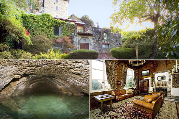 "Location: San Francisco, California Price: $1.49M Bed: 4 Bath: 2 Sq ft: 1436 Claim to Fame: Formerly the Albion Ale & Porter Brewery until Prohibition shut it down. About: There are several ""castles"" in this list of homes, and this residence has a six-story tower and castle ruins on the property, but also has a history as a brewery built in 1870, which operated until 1919. For those more interested in continuing that brewing legacy, underground springs supply 10,000 gallons of fresh water a day,"