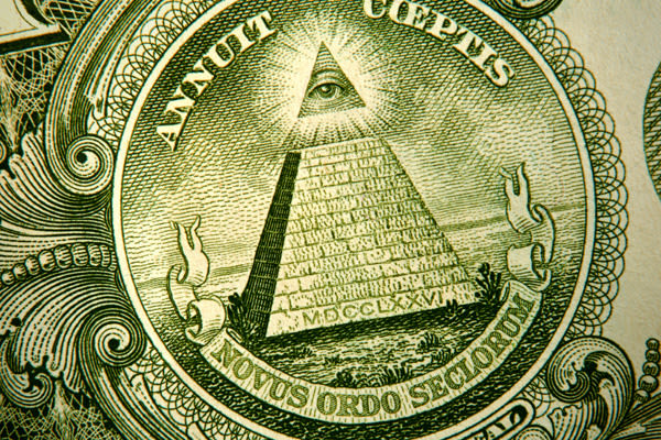 George Washington, the seal of the U.S. Treasury an eagle – all of these things represent America and what it stands for, so it makes sense that they're all on the $1 bill. But why is there an Egyptian pyramid on the back of the $1 bill? It's actually part of the official seal of the U.S. – the eagle design is the front and the pyramid is the back. The pyramid is said to represent strength and the thirteen steps represent the first 13 states. The fact that the top isn't finished represents that