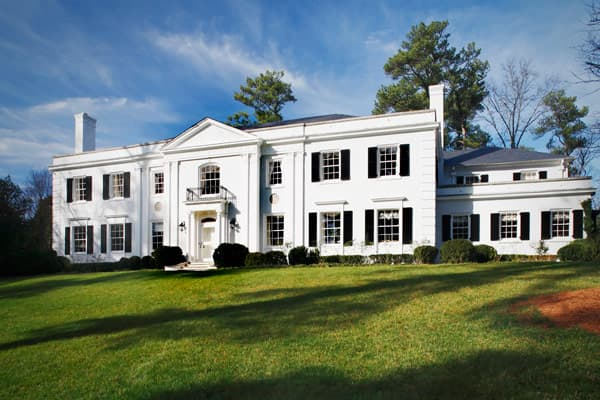 List Price: $10.9 million Size: N/A Bedrooms: 5 Bathrooms: 6 full, 3 half Known as Windcrofte, this home is a landmark in Atlanta's Tuxedo Park, and has a long history. Built in the 1930s, it was owned by one-time Coca-Cola Pres. Robert Woodruff, until it was sold to Guy Milner, a Georgia businessman and politician. Milner bought the home as a first-anniversary gift for his wife 20 years ago. The home stands on five acres and features a gated entry, extended driveway, white brick walls, manicure