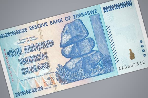 Highest monthly inflation: 79,600,000,000% Prices doubled every: 24.7 hours The most recent example of hyperinflation, Zimbabwe's currency woes hit a peak in November 2008, reaching a monthly inflation rate of approximately 79 billion percent, according to the Cato Institute. Although the Zimbabwean government stopped reporting official inflation statistics during the worst months of the country's hyperinflation, the report uses standard economic theory (comparisons of purchasing power parity) t