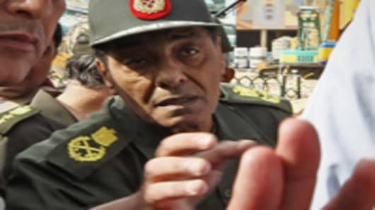 Egypt's Defence Minister Mohammed Hussein Tantawi