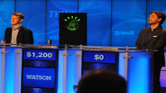 IBM's Watson computer system, powered by IBM POWER7, competes against Jeopardy!'s two most successful and celebrated contestants Ken Jennings and Brad Rutter.