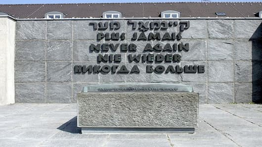A memorial at Dachau Concentration Camp