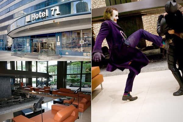 Photo: (Left) hotel71.com (Right) Warner Bros. Pictures