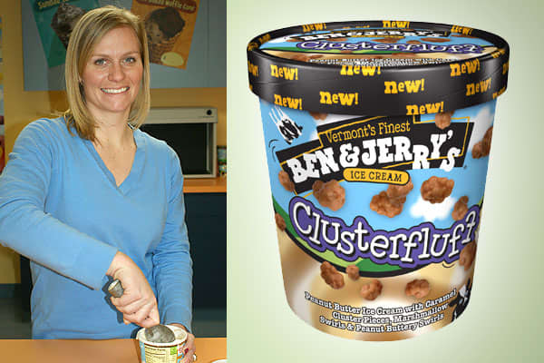 "Kirsten Schimoler is a product developer/flavor guru for ice cream. It's a job she's been training for since she was young. Her parents were in the restaurant and wine business, and her father had done some product development, something she used to mimic as a child. ""I loved to cook growing up … my brother and I would go into the kitchen and create things, working with a family friend on recipe development in the summers,"" she said. She has a degree in food science from Cornell University and w"