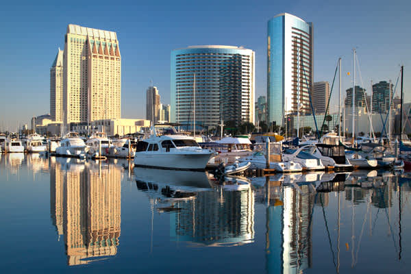 Change in percentage of renters: +5% Median income: $59,901 Unemployment: 10.1% Median house or condo value: $445,500 Median rent: $1,242 The vacancy rate for rental apartments in San Diego went down to 4.6 percent in the last quarter of 2010, from 5.0 percent the previous year, according to data from the property research company   Home prices in the San Diego metro area are expected to rise 3.5% this year, according to a forecast from