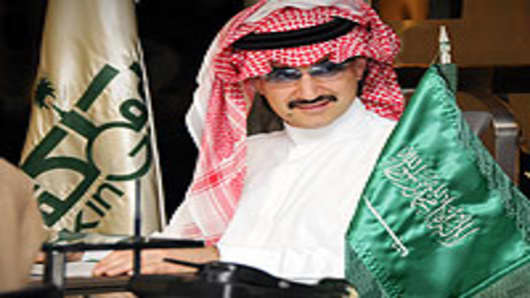 Prince Alwaleed bin Talal al Saud, the nephew of King Abdullah