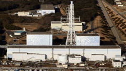 Quake-damaged Fukushima nuclear power plant in Futaba, Fukushima