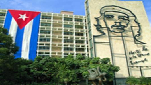 Havana, Cuba, The Ministry of the Interior located in the Plaza de la Revolucion.