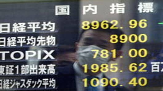 Japan's share prices plunged across the board after reports of rising radiation.