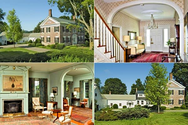 Location: Jericho, Vermont Price: $795,000 This 1797 Flemish Bond brick Georgian home was built for Martin Chittenden, the 8th governor of Vermont and son of Thomas Chittenden who was the first governor of Vermont. The home has been in the family of the present owners since 1939, and prior to that it was a bed and breakfast. Situated on 83 acres with one mile of frontage on the Winnoski River, the house has 5 bedrooms, 6 baths, 8 fireplaces, and features the original wide-plank wood flooring and