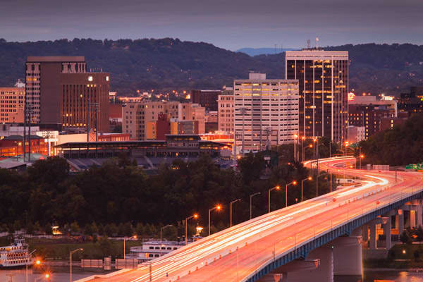 """The recession hit Chattanooga pretty hard, with the city's GDP down 7 percent from 2008 to the end of 2009. Plus, the city has a high crime rate.  The unemployment rate has dropped to 8.3 percent from 8.8 percent. Plus, the real-estate market is showing some signs of improvement: Home prices and sales are both on the rise. Chattanooga is known as one of the most affordable cities in the U.S. and it's surrounded by mountains, earning it the nickname """"Scenic City."""" Sperling adds that it also has"""