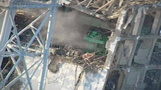 Unit 4 at Fukushima nuclear power plant shown on March 16, 2011.