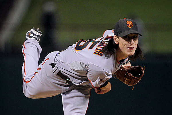 "Team: San Francisco GiantsThe 26-year-old dubbed ""The Freak"" or the ""Franchise"" is no surprise at No. 10, thanks to the fact that he helped lead the Giants to their first World Series title in 56 years. The 2008 and 2009 Cy Young won both Game 1 and Game 5 of the Series and it helps that his personality matches very well with the San Francisco crowd."