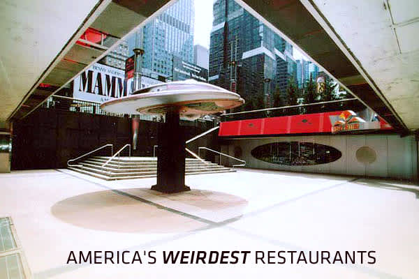 Novelty and theme restaurants seem to be more common outside the U.S., especially in Asia, but we've uncovered 20 unusual dining experiences right here in the USA, serving cuisines from the aggressively unhealthy to whimsical works of art. Some meals come with shows and some with surprises; some of the restaurants transport diners to another time, and one to another planet. It's a rare diner who will want to experience all of these restaurants, but click on ahead to see how many appeal and how m