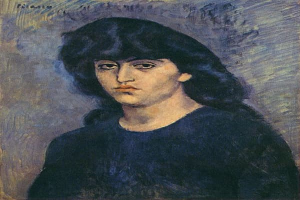"Image at left: Picasso's ""Portrait of Suzanne Bloch"""