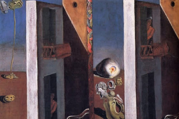 "Image at left: Dali's ""Two Balconies"""