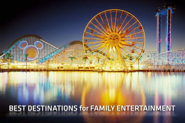 Among people who plan to travel in 2011, 83 percent will be traveling with family, and 90 percent of those traveling with family will keep their trips domestic, according to a recent TripAdvisor survey. What follows is the top 10 destinations where these travelers have the best-rated options for entertainment, dining, and accommodation. This ranking was released as inaugural Traveler's Choice Family list, compiled based on user reviews from TripAdvisor.com. The 10 destinations were determined ba