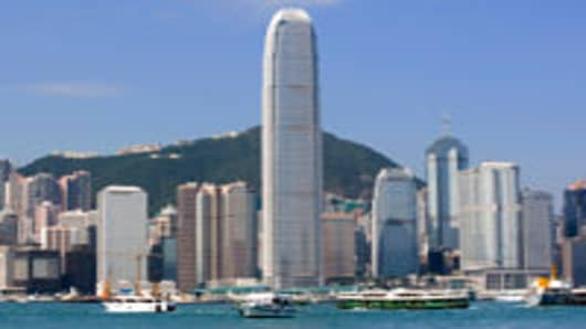 The International Finance Centre in Hong Kong.