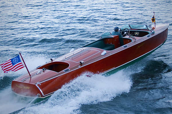 Suggested price: $217,000 Length: 30 feet Manufacturer: Hacker Boat Company This model is crafted with traditional lines and contours but equipped with an 8.1 liter Crusader engine that produces 385 horsepower. Hacker Boat Company is the largest manufacturer of hand-built, mahogany boats in the U.S.