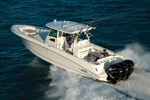 Suggested price: $408,000 Length: 36 feet 6 inches Manufacturer: Boston Whaler The largest Boston Whaler, this boat model comes with a windshield system that provides improved visibility, storage for fishing and scuba gear, while doubling as a sunpad.