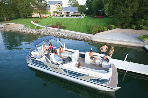 Suggested starting price: $31,580 Length: 26 feet Manufacturer: Godfrey Pontoon Boats Pontoon boats proved resilient during the downturn because of their versatility and affordability, with aluminum pontoon boats seeing pickup today. This model, which comes with an acrylic bar top, can hold up to 14 people. With three-quarters of the boat shows complete in mid-March, Nautic Global Group, which owns Godfrey Pontoon Boats, reported a 65 increase in unit sales of pontoon boats at this year's boat s