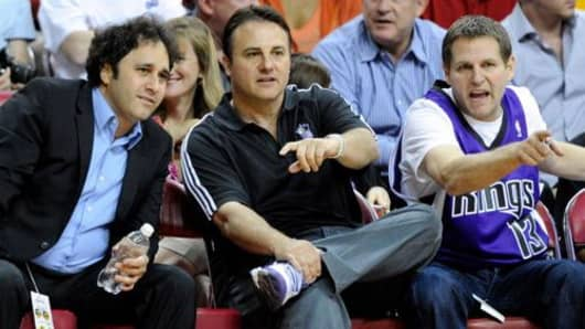 Brothers George, Gavin and Joe Maloof