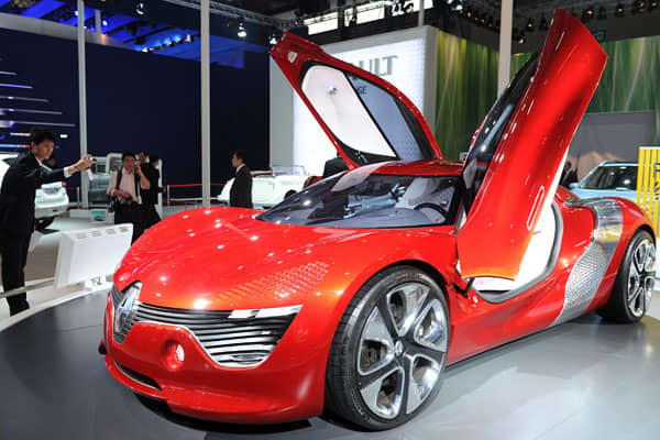 The Renault DeZir concept car is powered by an electric motor, which is a growing theme at recent auto shows. Since 2009, Chinese leaders have adopted plans to raise annual production of hybrid or electric cars and buses to 500,000 by the end of this year.