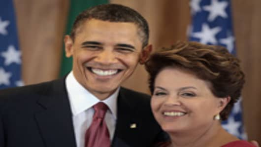 US President Barack Obama and Brazilian President Dilma Rousseff