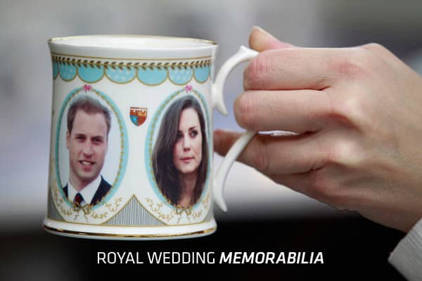 "As the wedding bells ring for Prince William and his long-term girlfriend Kate Middleton, retailers across Britain will hear the cash registers chime. With over 600,000 tourists expected to visit London for the occasion and another estimated 2.5 billion viewers worldwide, they are keen to cash in on the royal wedding and shelves are stacked with souvenirs ranking from weird to wonderful. From the ""lie back and think of England"" Crown Jewels condoms to the ""throne-up"" sick bags, CNBC has listed t"