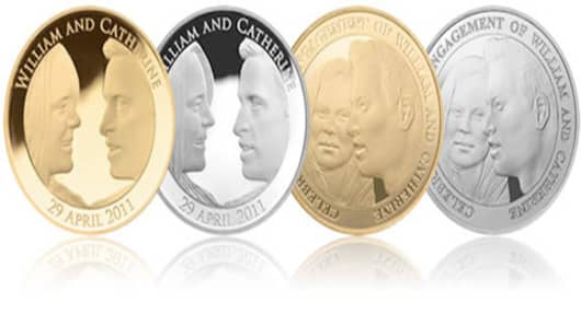 Will and Kate coins