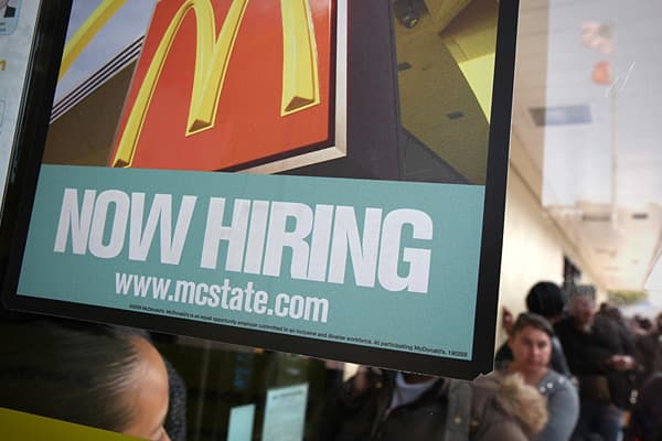 "Hiring: 50,000+McDonald's is so enthusiastic about the recovery, it held a ""National Hiring Day"" in April, where it set out to hire 50,000 workers, a mix of both management and restaurant-staff jobs. The fast-food chain exceeded its goal and said it plans to continue hiring. As for its reputation for only offering minimum wage jobs, McDonald's said about half of its franchisees and 75 percent of its managers started out as store workers."