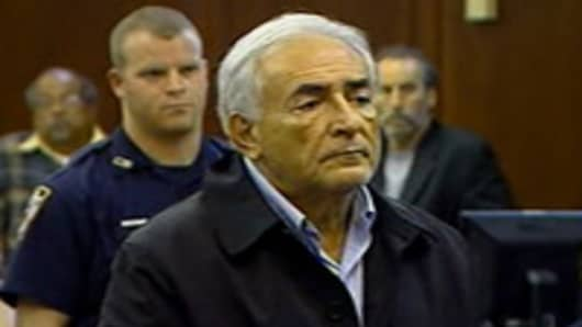 Dominique Strauss-Kahn in court.