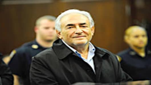 International Monetary Fund chief Dominique Strauss-Kahn appears in federal court May 16, 2011 in New York City.