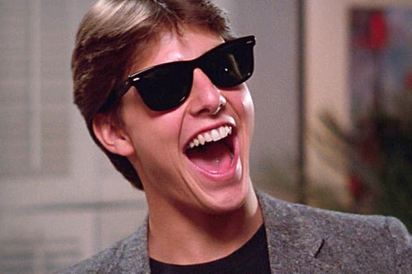 The 1983 comedy Risky Business is both the movie that launched Tom Cruise's career and the movie that saved Ray-Ban's Wayfarer sunglasses from extinction. Cruise plays Joel, a suburban high school student whose parents go out of town for the weekend, leaving him free to dance around the house in his underwear. His character wears Ray-Ban's Wayfarer sunglasses, which became so popular as a result that  were sold that year. The placement did more than just shift units; it literally pulled the prod