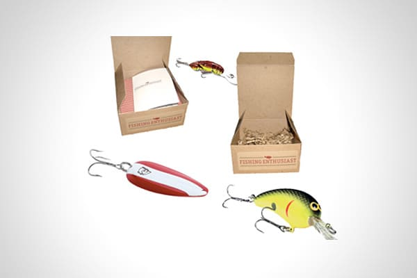 Lure of the Month Clubs Price: $53 and up If dad lives to fish, you might want to sign him up for a fishing lure of the month club. Fishing Enthusiast has several different ones. Pick the one that fits his favorite fishing spot or his favorite catch. There are lures for trout, walleye, saltwater and fresh water. In total, the NRF projects consumers will spend $653 million on all types of sporting goods this Father's Day.