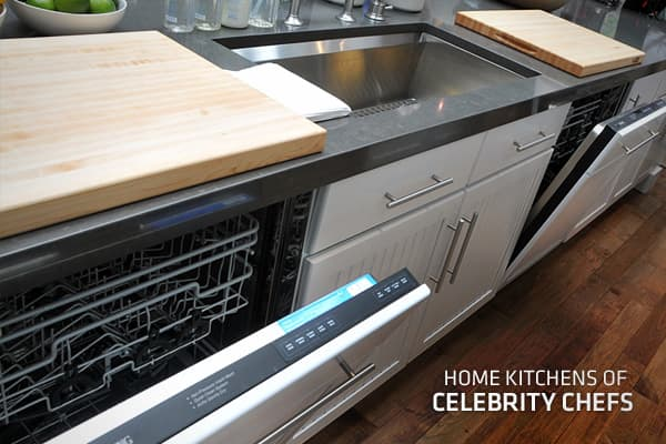 Sure, chefs have shiny, swanky kitchens on TV, but where do they fix their family feasts and midnight snacks at home? Some celebrity chefs use their TV riches to create a super-kitchen, like the  Gordon Ramsay recently did on a kitchen that already cost about $820,000 and included a $110,000 stove. But as you'll see in the following slides, Gordon is not necessarily the norm. We got up in the kitchens of chefs and famous food professionals to point out what was important to each of them and what