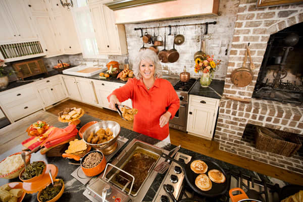 Cooking Credentials: restauranteur (The Lady & Sons Restaurant), TV host (), cookbook author ()