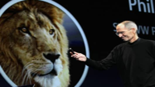 Steve Jobs introduced OS X Lion