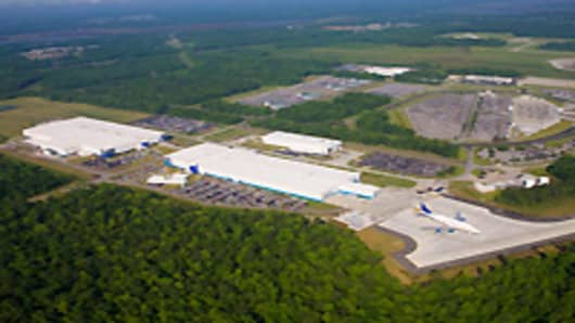 Located in North Charleston, S.C., the Charleston site consists of Boeing Charleston and Global Aeronautica. These facilities perform fabrication, assembly, and integration of 787 fuselage sections.
