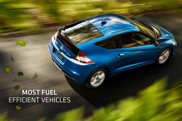 2011 S Most Fuel Efficient Vehicles